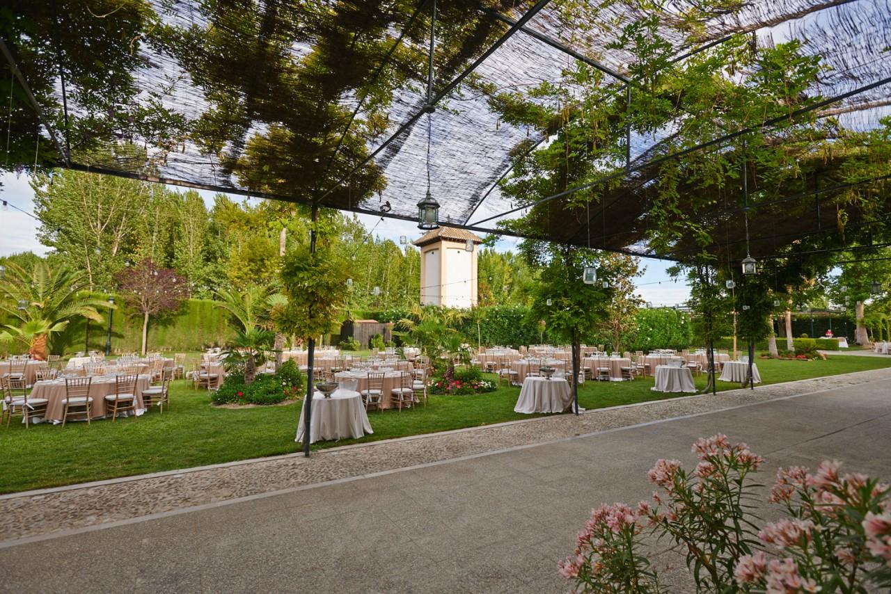 jardín para banquetes de boda -