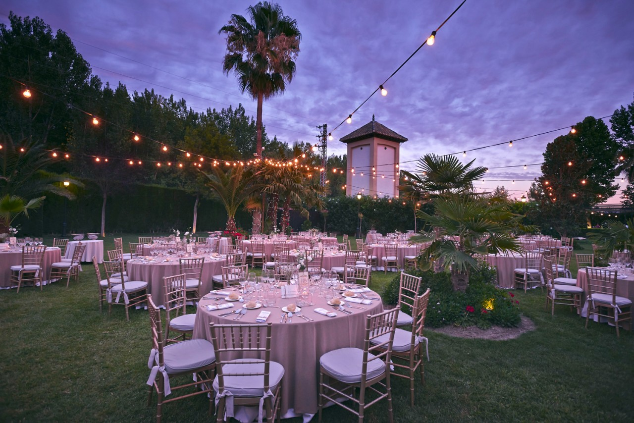 Carpa bombillas bodas -