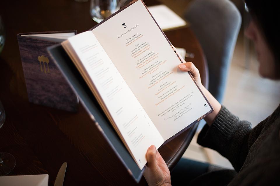 Restaurante Alameda - Detalle de la carta del restaurante Alameda de Granada