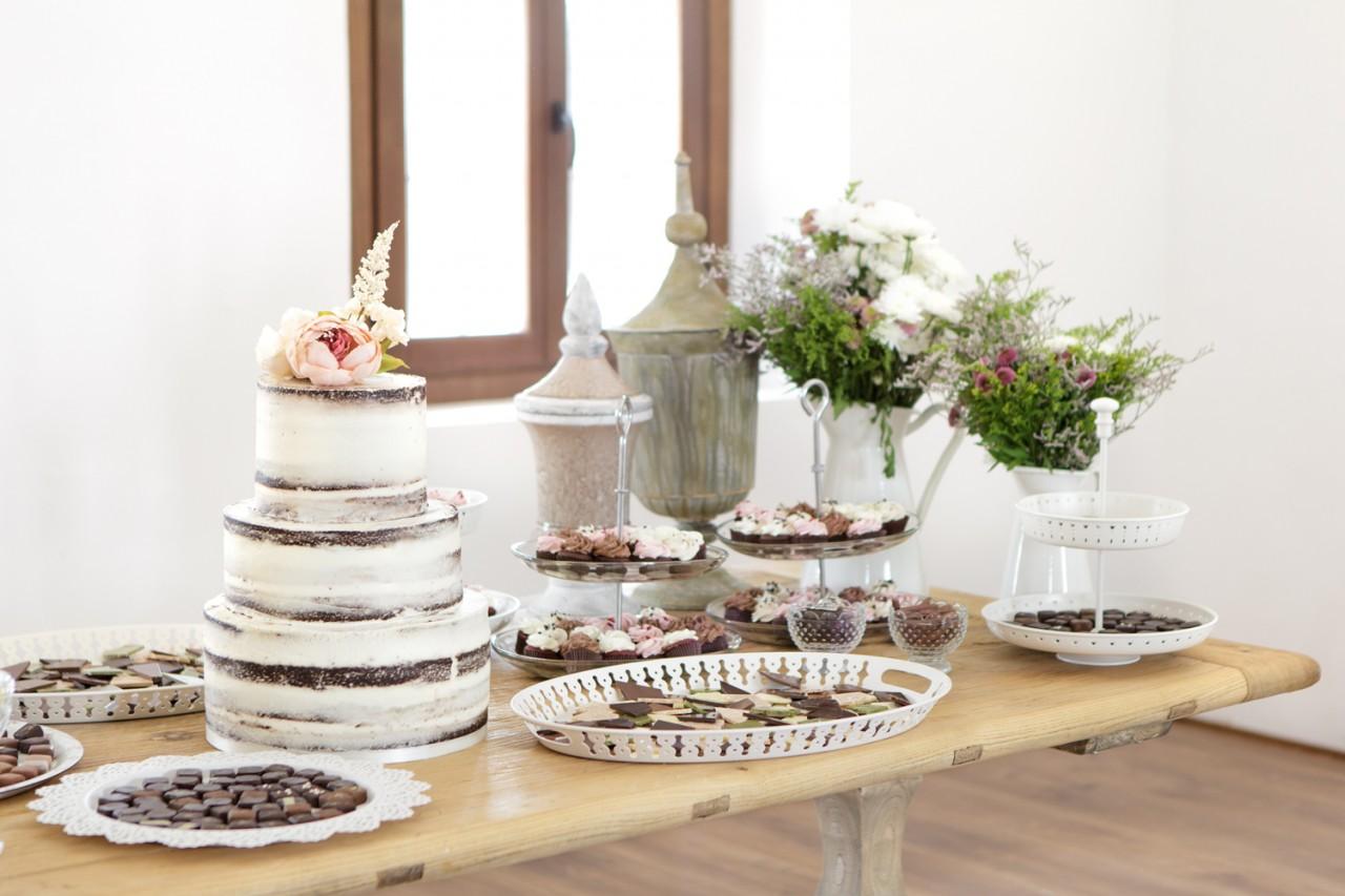 Mesa de dulces vintage -